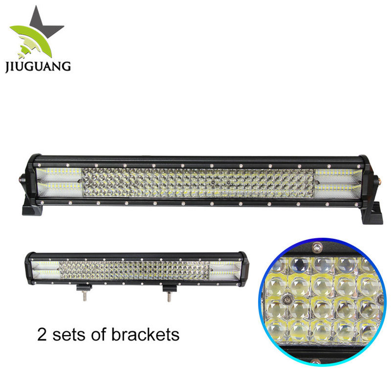 23 Inch 396 W Auto Led Light Bar 10000 Lumen Four Row Convex Mirror